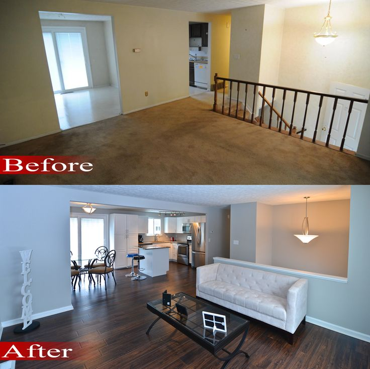 M u thi t k nh p before and after renovation before for Renovated homes before and after photos